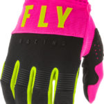 FLY RACING F-16 GLOVES NEON PINK:BLACK:HI-VIS 373-916